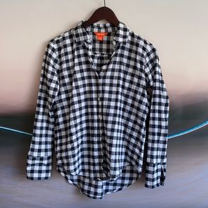 Black and White Gingham Button Down XS